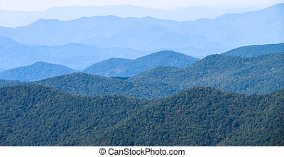 Appalachian Mountain View Along the Blue Ridge Parkway