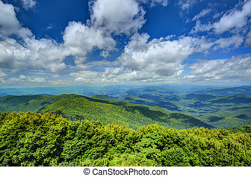 Appalachian Mountains - View of Appalachian mountains in...