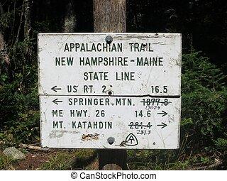 appalachian, piste
