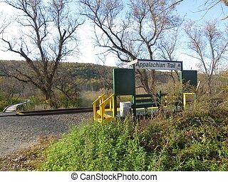 Appalachian Trail Metro North Stop - The Appalachian Trail...