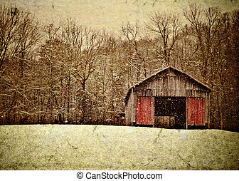 Appalachian Winters - An illustration of an old Appalachian...