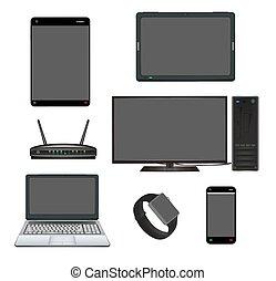 apparaat, router, computer, smart