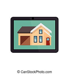 apparaat, tablet, smarthouse