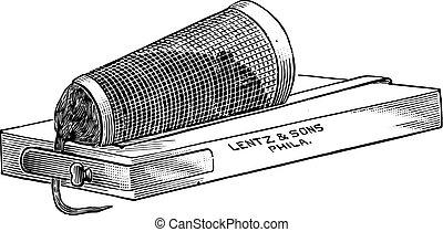 brauner weinlese ratte abwasserkanal ratte oder engraving fleury kai larive ratte. Black Bedroom Furniture Sets. Home Design Ideas