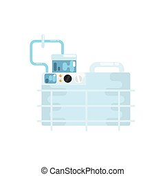 Apparatus for lung ventilation, medical equipment vector Illustration