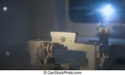 Machine for production of nanofibers