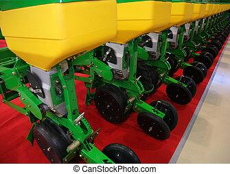 apparecchiatura agricola, per, fertilizzante, di, terra