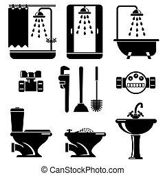 apparecchiatura, bagno