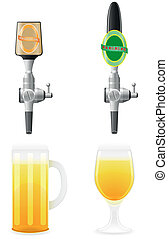 apparecchiatura, birra, vettore, illustrazione