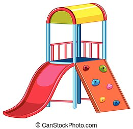 apparecchiatura, diapositiva, arrampicatore, campo di gioco, roccia