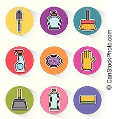apparecchiatura, disegno, pulizia