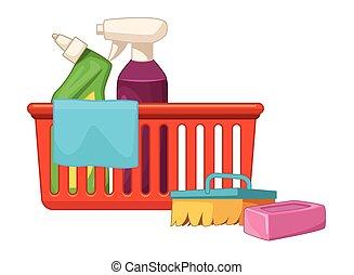 apparecchiatura, igiene, pulizia, icone