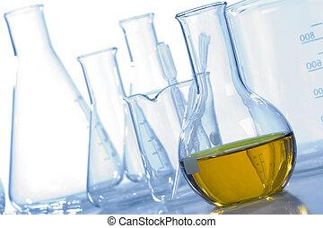 apparecchiatura laboratorio, vetro