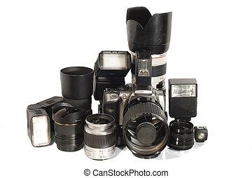 apparecchiatura, macchina fotografica