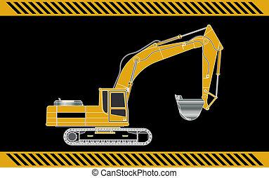 apparecchiatura, macchinario costruzione, scavatore