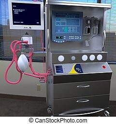 apparecchiatura, ospedale, moderno