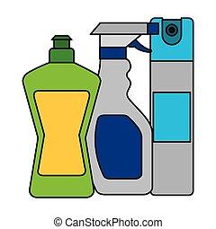 apparecchiatura, pulizia, relativo