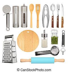 apparecchiatura, set, cucina