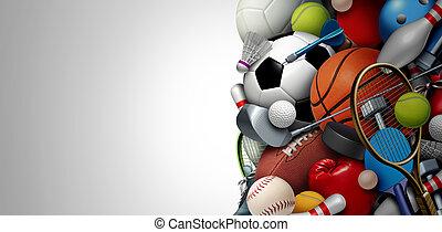 apparecchiatura, sport, fondo