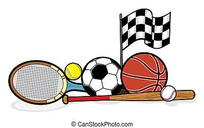 apparecchiatura, sportivo