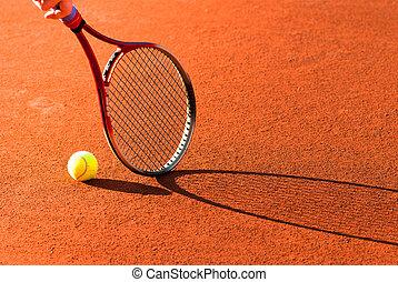 apparecchiatura, tennis