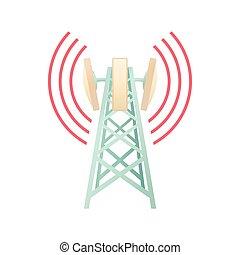 apparecchiatura, torre, telecomunicazioni, icona