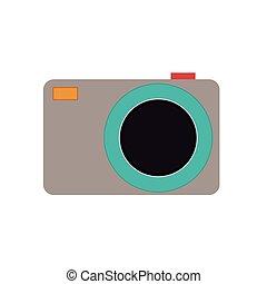 appareil, appareil photo, conception, isolé