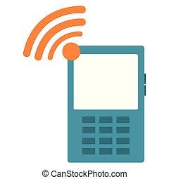 appareil, cellphone, signal, wifi