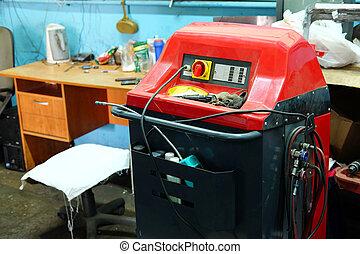 appareil, chèque, air-conditioner