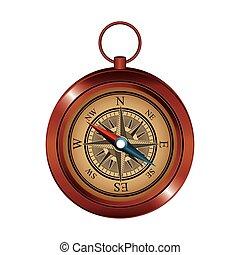appareil, compas, icône