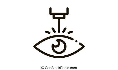 appareil, icône, correction, laser, oeil, animation