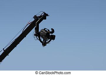 appareil photo, 2, boom, bras