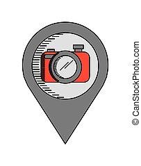 appareil photo, appareil, icône
