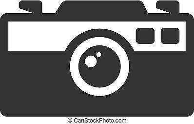 appareil photo, -, bw, icônes