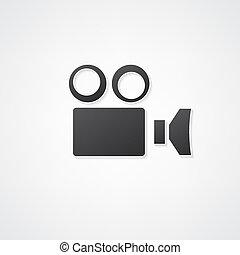appareil photo, caméscope, icône