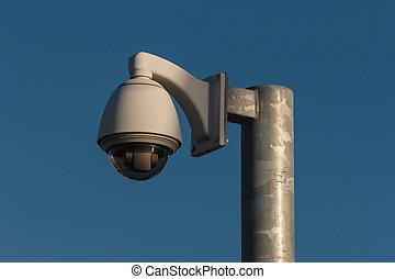 appareil photo, cctv, dôme