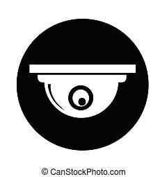 appareil photo, cctv, icône