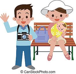 appareil photo, famille