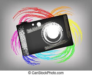 appareil photo, grunge