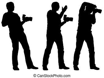 appareil photo, main