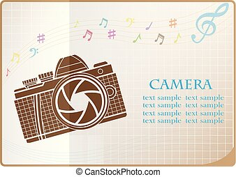 appareil-photo photo, conception, toile, icône