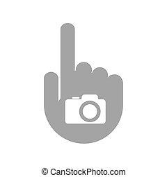 appareil-photo photo, isolé, main