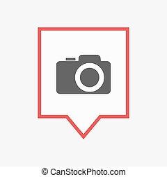 appareil-photo photo, isolé, tooltip