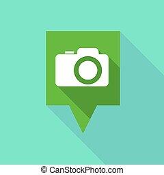 appareil-photo photo, long, tooltip, icône