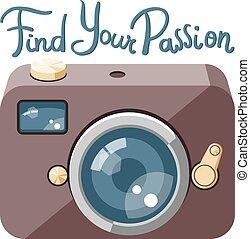 appareil-photo photo, retro, lettrage
