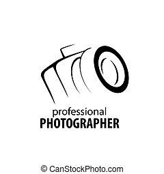 appareil photo, photographe, logo
