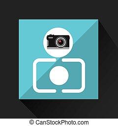 appareil photo, photographique, retro