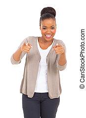 appareil photo, pointage femme, business, africaine