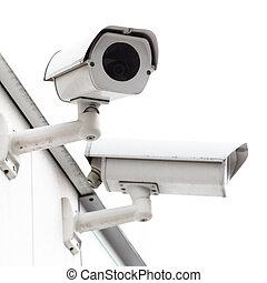 appareil-photo sécurité, monté, wall.