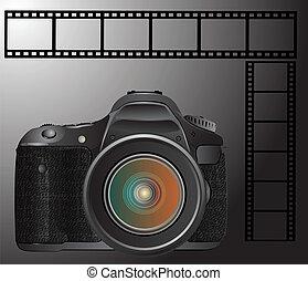 appareil photo, slr, pellicule, numérique